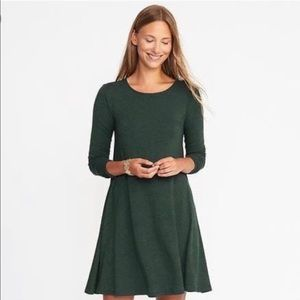 Old Navy / Knit Forest Green Swing Dress